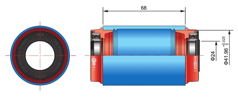 FSA MTB M3/42x68 AL