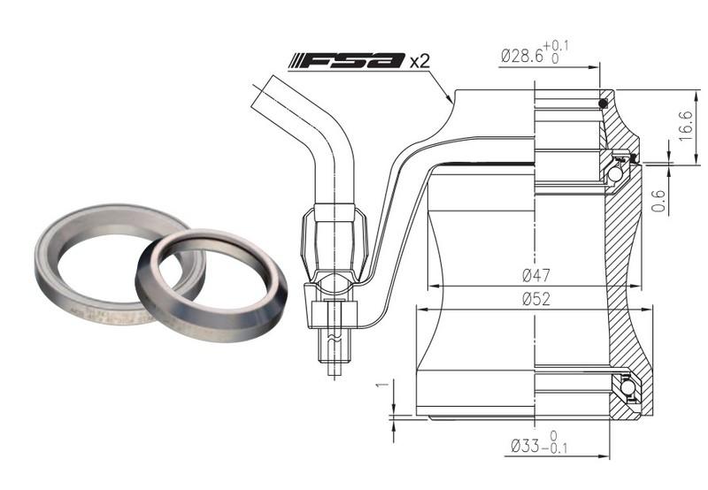 Hlavové zloženie FSA Orbit C-33-CX