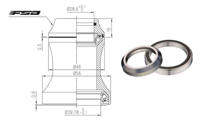 Hlavové zloženie FSA Orbit C-40 ACB, 15mm