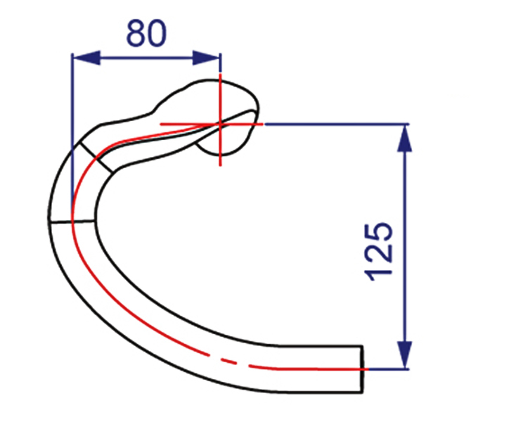 Kormidlo VISION Metron 4D Compact Gray, 420mm