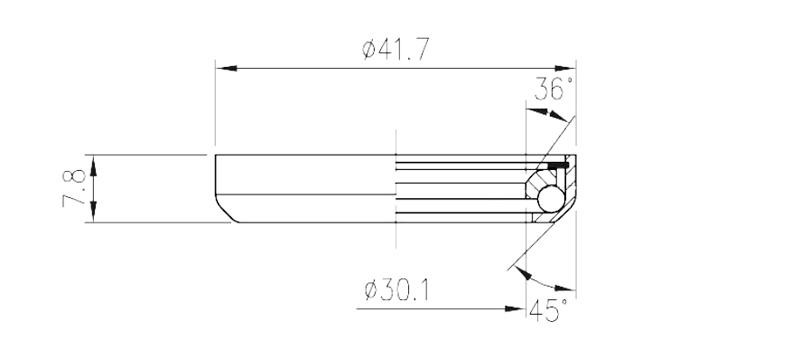 """Ložisko FSA TH-800 (MR075) 1-1/8"""""""