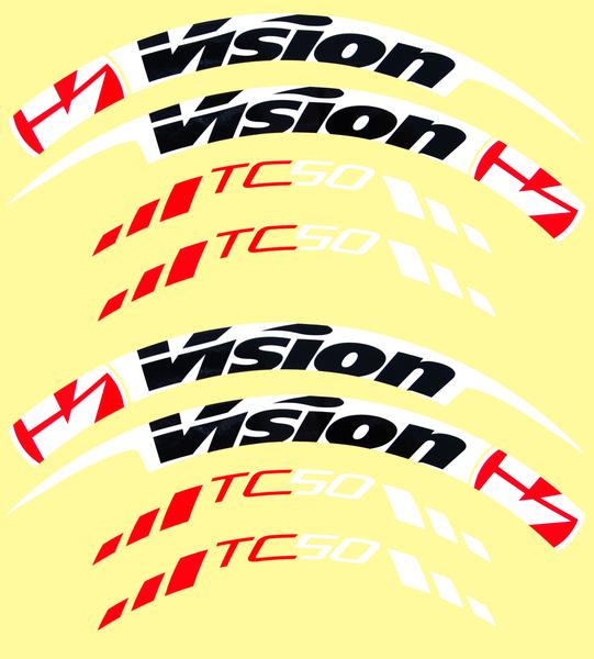 Nálepky na ráfky VISION TriMax Carbon 45