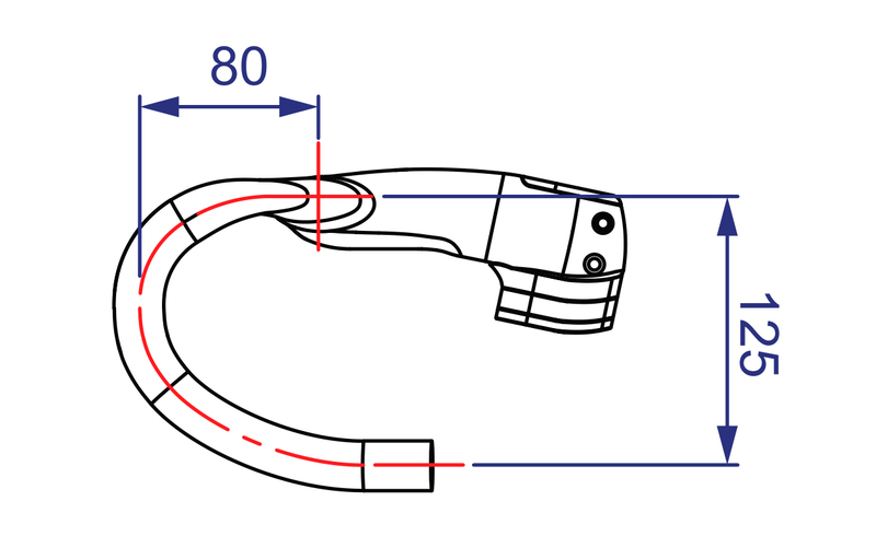 Kormidlo VISION Metron 5D, 110x420mm