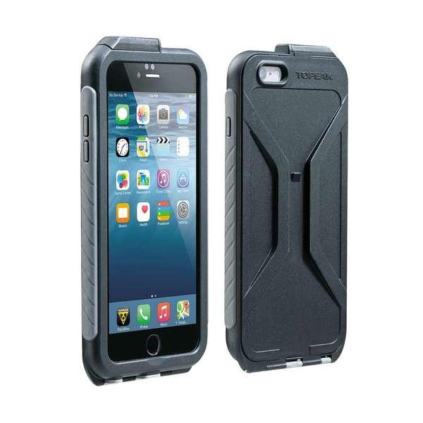 Puzdro Topeak WEATHERPROOF RIDE CASE (iPhone 6 plus ) čierno-šedé (s držiakom)