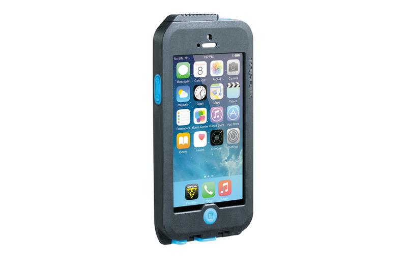 Puzdro Topeak WEATHERPROOF RIDE CASE (iPhone 5/5s/SE) čierno-modré (s držiakom)