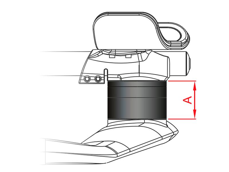 Kormidlo VISION TriMax Carbon S.I. Gray