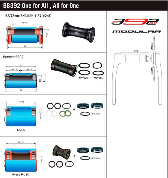 Kľuky FSA PowerBox Carbon 392EVO 32z, 170mm  [1x11,1x12]