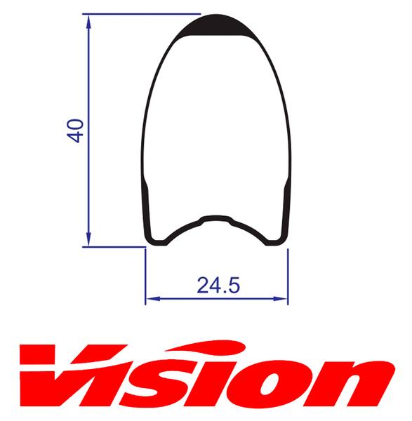 Ráfik VISION Metron 40SL Tubular zadný, 21 dier