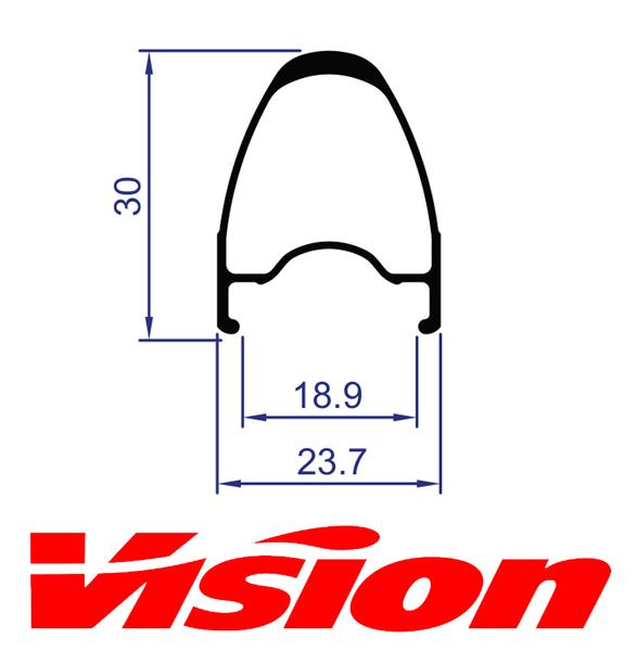 Ráfik VISION Team 30 predný, 18 dier