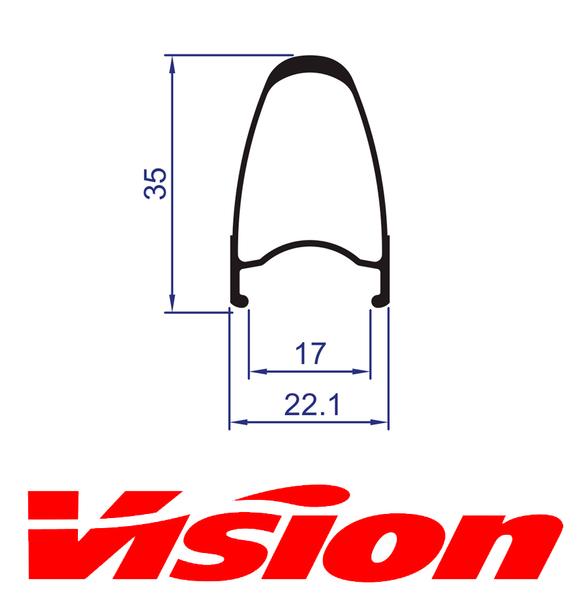 Ráfik VISION TriMax Carbon 35 predný, 16 dier