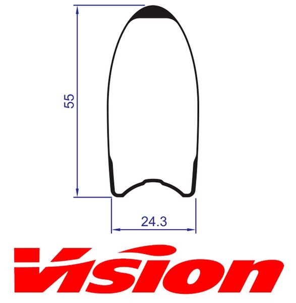 Ráfik VISION Metron 55SL Tubular zadný, 21 dier