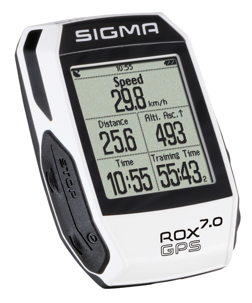 Cyklopočítač Sigma ROX 7.0 GPS white