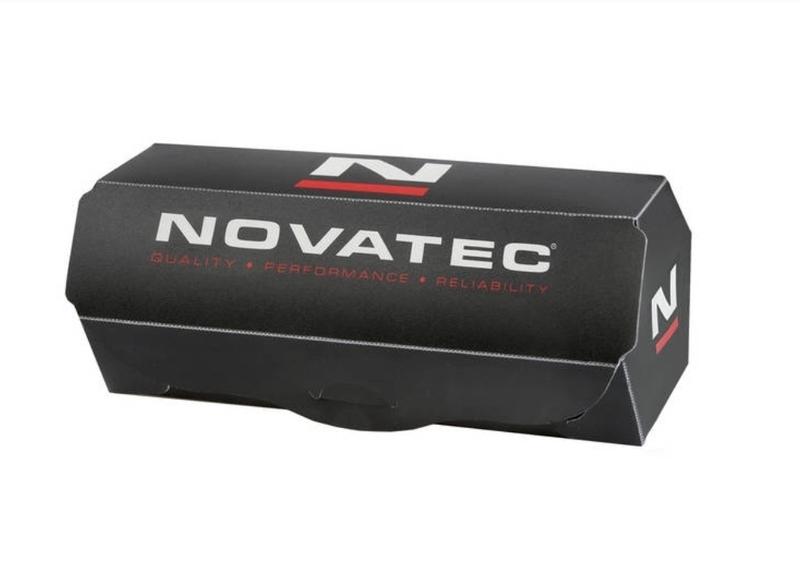 Náboj Novatec D771SB + redukcie 15mm, predný, 32-dierový, červený (N-logo)