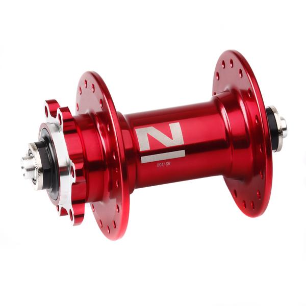 Náboj Novatec D041SB, predný, 32-dierový, červený (N-logo)