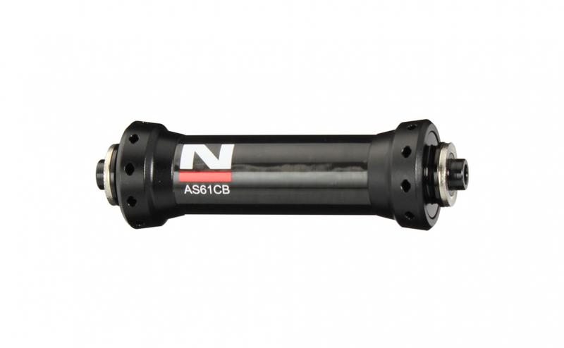 Náboj Novatec AS61CB, přední, 20-děrový, černý (N-logo)