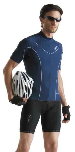 Cyklistický dres pánsky GIESSEGI Mile modrý M