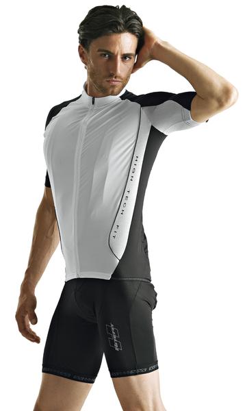 Cyklistický dres pánsky GIESSEGI Shark čierno/biely M