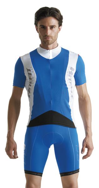 Cyklistický dres pánsky GIESSEGI Prow bielo/modrý M