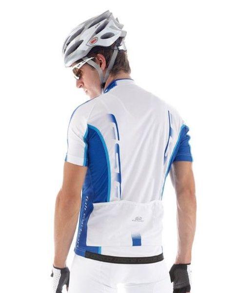 Cyklistický dres pánsky GIESSEGI Shade bielo/modrý XXL