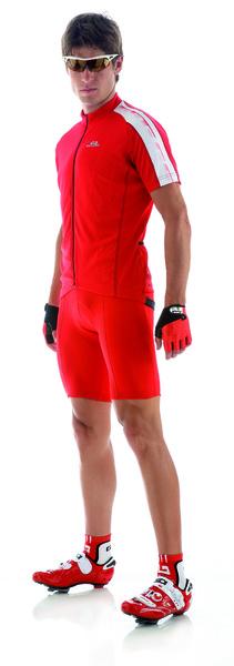 Cyklistický dres pánsky GIESSEGI Classic červený M