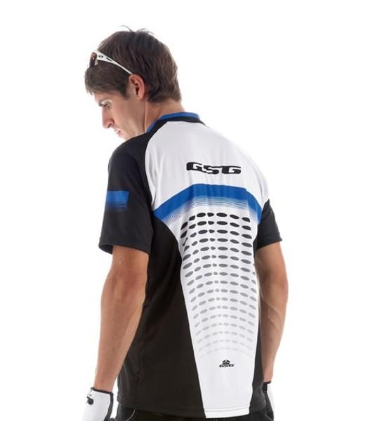 Cyklistický dres voľný GIESSEGI Freeair s krátkym rukávom modrý M