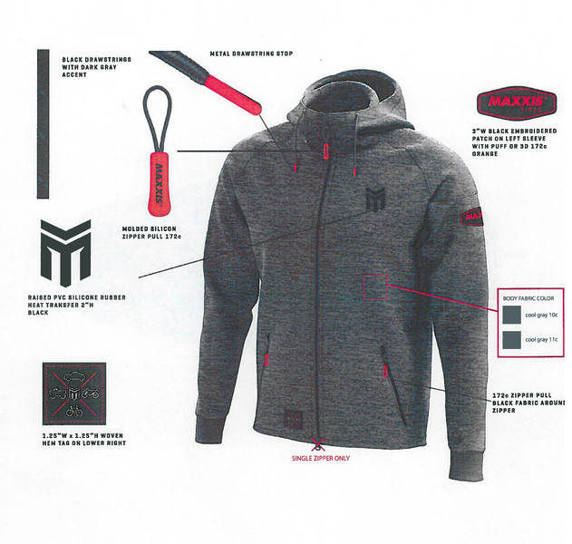 MAXXIS Performance Hoodie Gray S