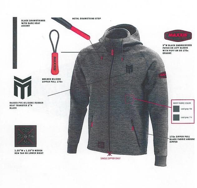 MAXXIS Performance Hoodie Gray XL