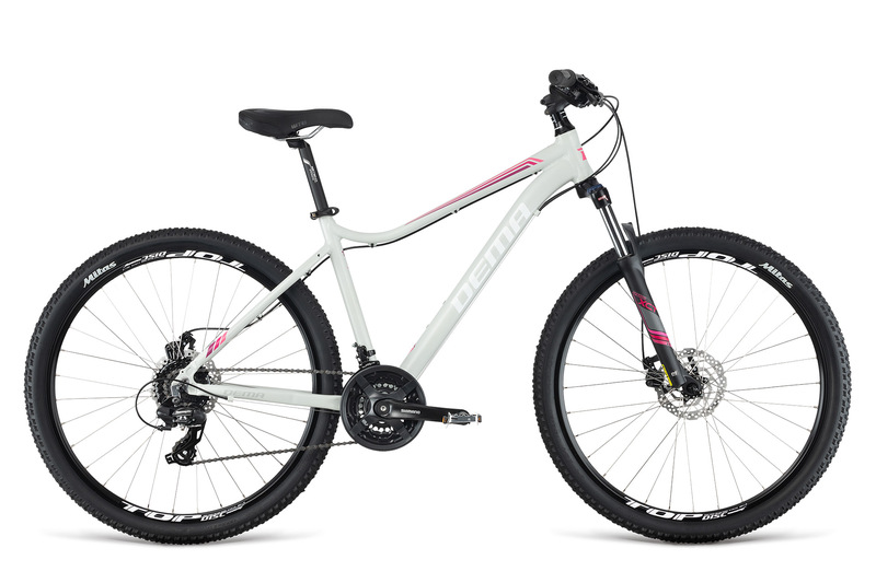 32aeeb4246941 Bicykel Dema TIGRA 5.0 light grey-pink 18