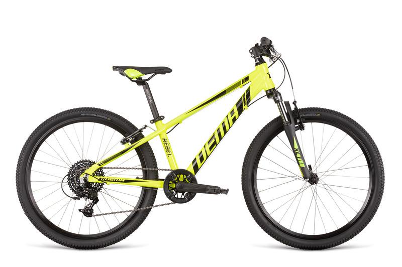 Bicykel Dema Rebel 24 neon yellow-black