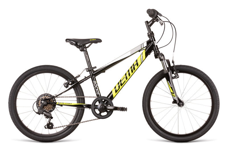 Bicykel Dema ROCKIE 20 SF black-neon yellov