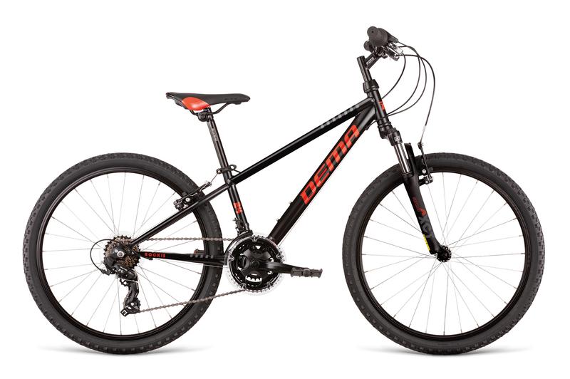 Bicykel Dema ROCKIE 24 SF black-red