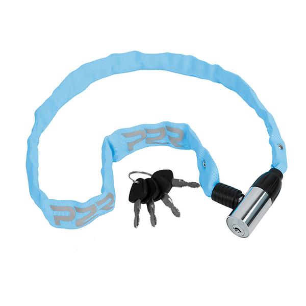 Zámek na kolo P2R AVENIR 4*650 mm, řetezový, blue