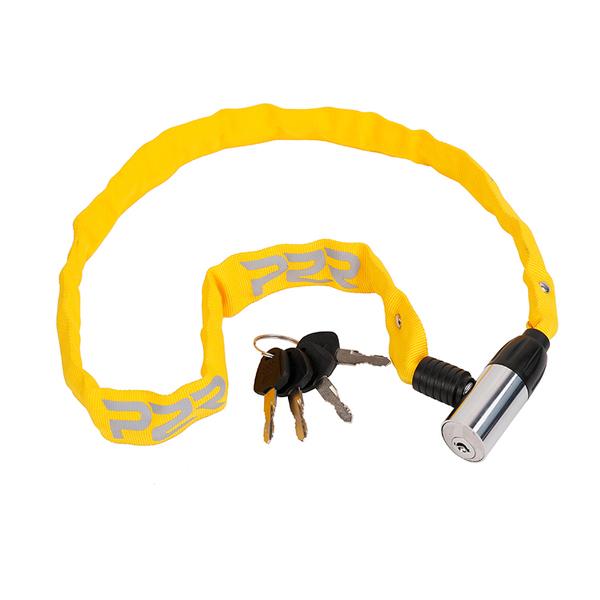 Zámek na kolo P2R AVENIR 4*650 mm, řetezový, yellow