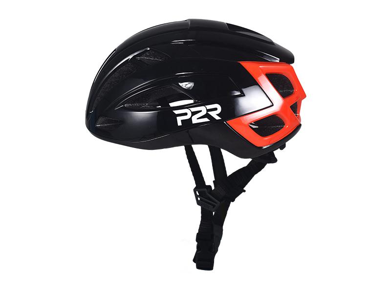 Přilba P2R RODEO, S/M 55-58cm, black-red, matt & shine