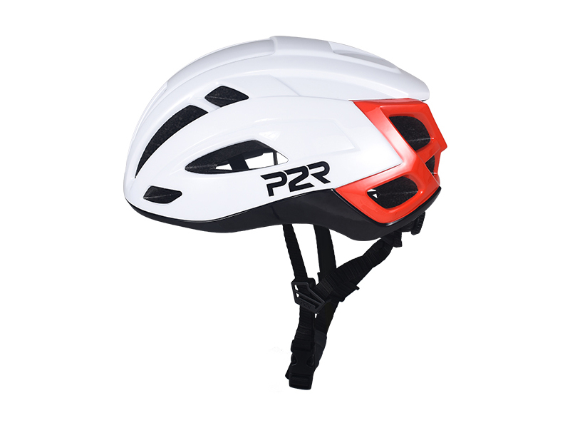 Prilba P2R RODEO, S/M 55-58cm, white-black-red, shine