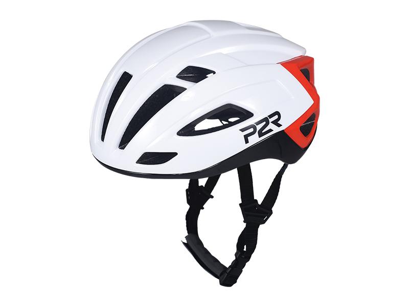 Přilba P2R RODEO, M/L  59-61cm, white-black-red, shine