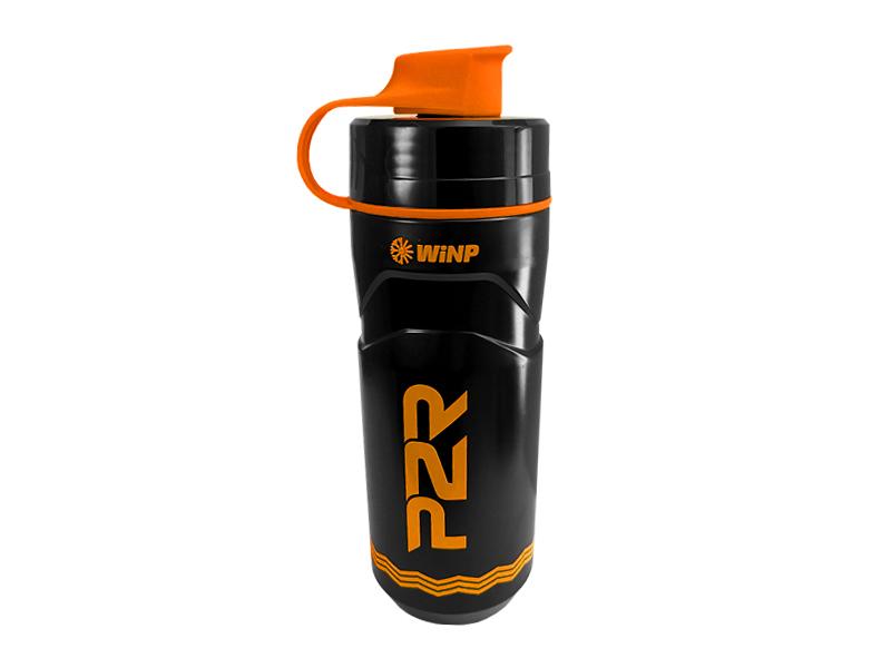 Termo láhev P2R TERMICA 600 ml, black-orange